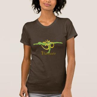Pose reta, camisetas do namaste do OM da ioga