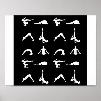 Poses da ioga pôster