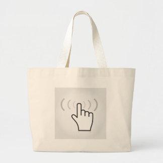 Posicione uma mão bolsa tote grande