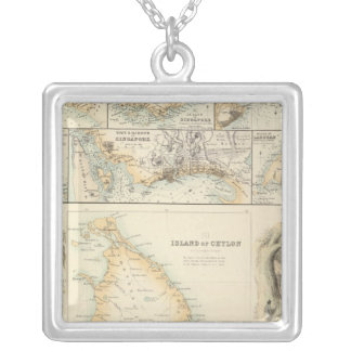 Possessões britânicas nos mares indianos colar banhado a prata