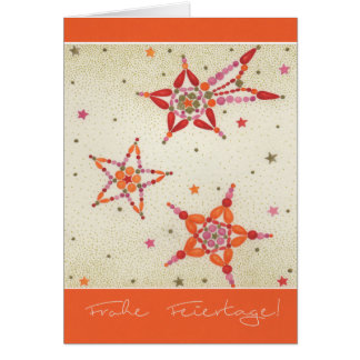 Postal de natal estrelas Multicolores