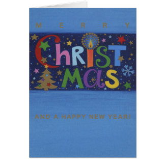 Postal de natal Merry Christmas