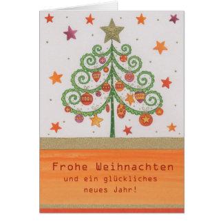 Postal de natal Tannenbaum Multicolor