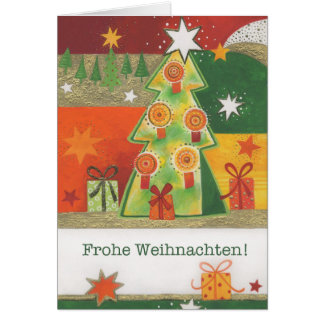 Postal de natal Tannenbaum Multicolor com velas