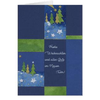 Postal de natal Tannenbäume Verdes
