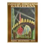 Postal Retrofuturista de la Expo Bcn 1929 Cartão Postal