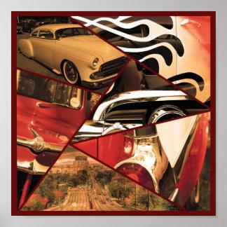 Poster 10x10 do carro vintage