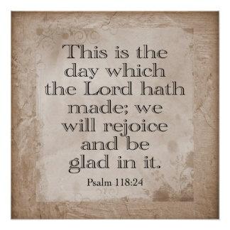 Pôster 118:24 dos salmos --- *Art Print*