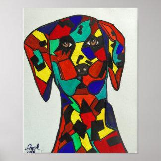 """Poster 11"""" x14"""" arte abstracta - pintura Dalmatian"""