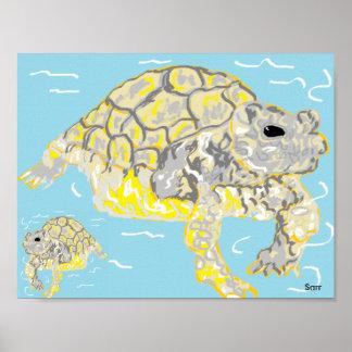 """Pôster 11"""" x 8,5"""", tartarugas de mar (Matte) do papel de"""