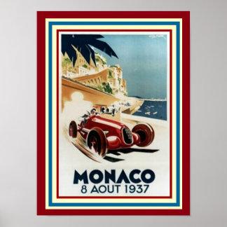 Poster 12 x 16 de Monaco 8 Aout 1937