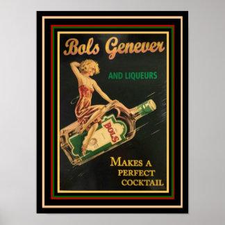 Poster 12 x 16 do anúncio do vintage de Bols