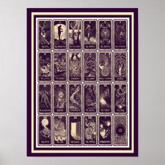 Poster 12 x 16 do cartão de Nouveau Tarot da arte