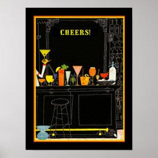 Poster 12 x 16 do cocktail dos elogios