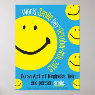 Poster 12x16 do dia do sorriso do mundo