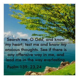 Poster 139:23 do salmo - 24