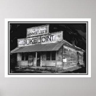 Poster 13 x 19 da junção de B&W Juke
