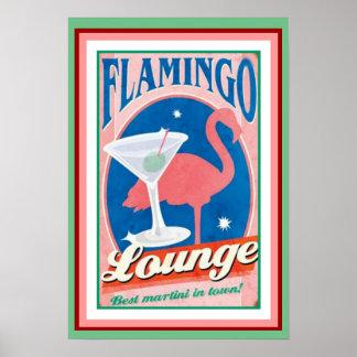 Poster 13 x 19 da sala de estar do flamingo