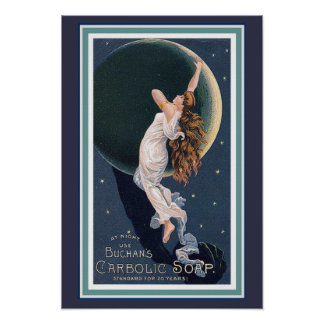 Poster 13 x 19 do anúncio do sabão carbólico de