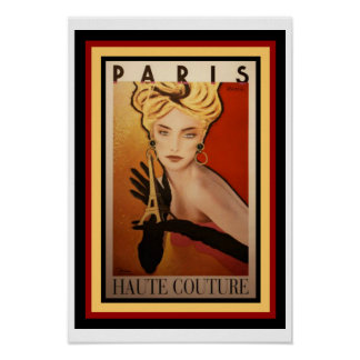 Poster 13 x 19 do Couture de Paris Haute Pôster