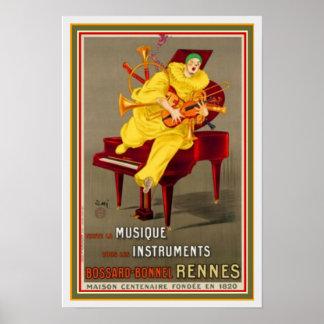 Poster 13 x 19 dos instrumentos de Bossard Bonnel
