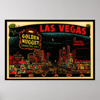 Poster 13x19 da tira do casino de Las Vegas do