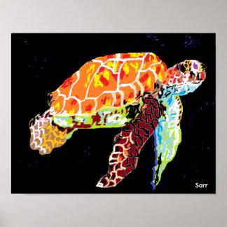"""Pôster 14"""" x 11"""", tartaruga de mar (Matte) do papel de"""