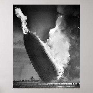 "Poster 16"" do desastre de Hindenburg x20""."