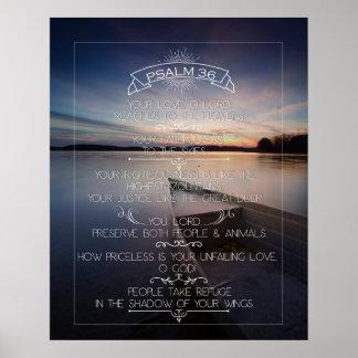 """Poster 16 x 20"""" da arte da parede do salmo 36,"""