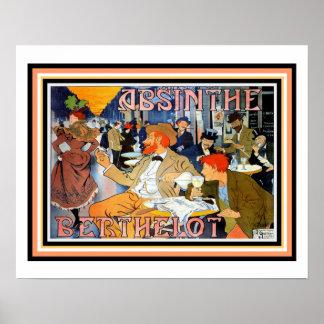 Poster 16 x 20 de Berthelot do absinto de Nouveau