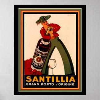 Poster 16 x 20 de Deco do espanhol do vintage