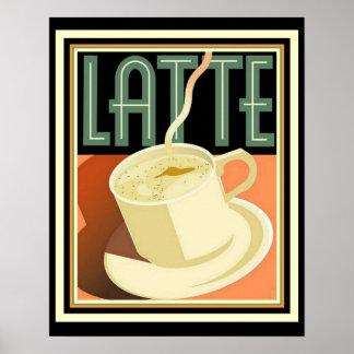 Poster 16 x 20 de Latte do art deco