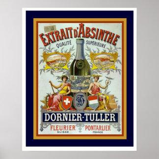 Poster 16 x 20 do absinto de Dornier-Tuller