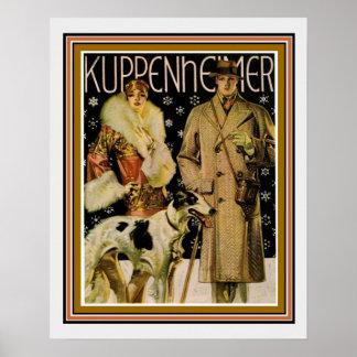 Poster 16 x 20 do anúncio de Kuppenheimer do art