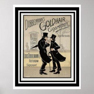 Poster 16 x 20 do anúncio do cigarro de Dobbelmann