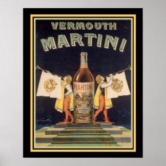 Poster 16 x 20 do anúncio do vintage de Martini do