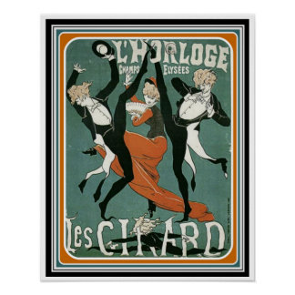 Poster 16 x 20 do art deco do vintage de Les