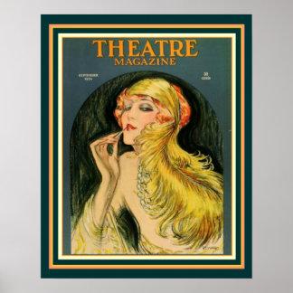 Poster 16 x 20 do compartimento do teatro do art