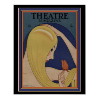 Poster 16 x 20 do compartimento do teatro do art