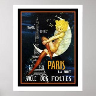 Poster 16 x 20 do DES Folies de Paris Ville Pôster