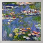 Poster 1916 dos lírios de água de Monet