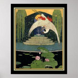 Pôster 1921 cena 16 x 20 do jardim do art deco