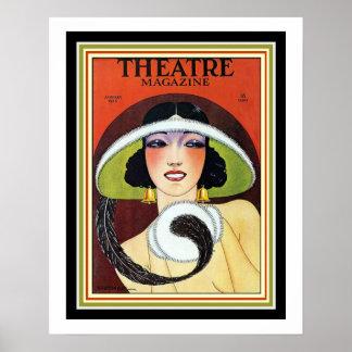 Poster 1924 cobrir 16 x 20 do art deco do compartimento