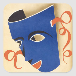 Poster 1946 de Carnaval Habana do vintage Adesivo Quadrado