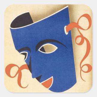 Poster 1946 de Carnaval Habana do vintage Adesivos Quadrados