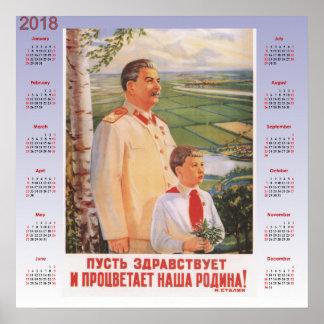 Poster 1949 do soviete do calendário 2018