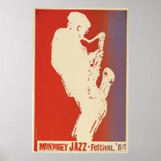 Poster 1964 do festival de jazz de Monterey