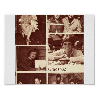Poster 1982 do livro do formando de Graydon