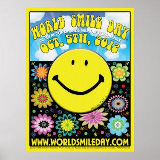 """Poster 2012 - 18x24 do dia do sorriso do mundo """""""