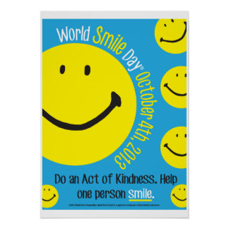 Poster 2013 do dia do sorriso do mundo 20x28